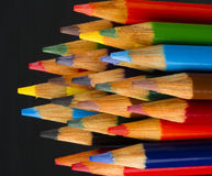 Macro Close Up Wood Multiple Color Art Supply Pencils Royalty Free Stock Images
