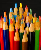 Macro Close Up Wood Multiple Color Art Supply Pencils Stock Images