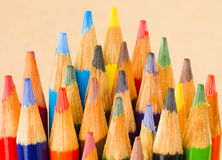 Macro Close Up Wood Multiple Color Art Supply Pencils Royalty Free Stock Photography