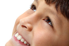 Macro close-up of young boy's eyes Royalty Free Stock Photos