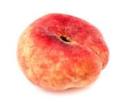 Macro closeup of bright colorful donut peach isolated Stock Images