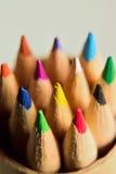 Macro Closeup Colorful Pencils Vertical frame Stock Photo