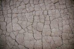 Macro closeup on concrete asphalt cracks Stock Image