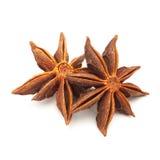 Macro closeup of Organic Star anise. Royalty Free Stock Images