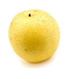 Macro closeup of snow pear Royalty Free Stock Image