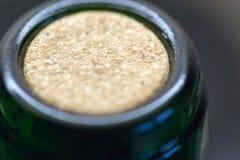 Macro Closeup Wine Bottle Cork Stock Photo