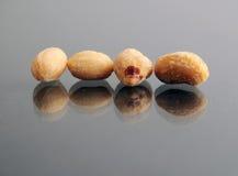 Macro closeupof peanuts Stock Photos