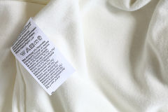 Macro of clothing label white Royalty Free Stock Image