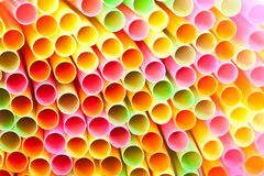 Macro of cocktail straws Royalty Free Stock Image