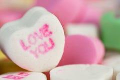 Macro coeur d'amour de sucrerie Photo stock
