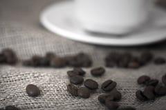 Macro coffe. Macro shot; aromatic black arabic coffe Royalty Free Stock Photo