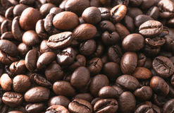 Macro coffee beans roasted Royalty Free Stock Photography