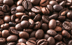 Macro coffee beans roasted Royalty Free Stock Photo