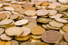Macro of coins Stock Photography