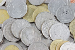 Macro Coins Royalty Free Stock Images