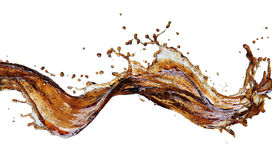 Macro cola splash stock image
