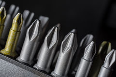 Macro Collection Of Phillips, Torx, Star And Slotted Bits 5 Stock Photo