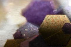 Macro color wallpaper art glitter small texture Stock Images