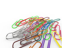 Macro Colored Paper Clips Royalty Free Stock Photography