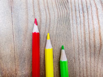 Macro of colored pencils Stock Photos