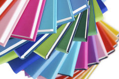 Macro of colorful books fan Royalty Free Stock Photo