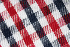 Macro of colorful grid pattern cloth Stock Image
