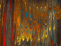 Flowing colorful mixed paint on canvas Royalty Free Stock Photography