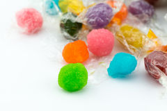 Macro of colorful native candy Thai. Stock Photos