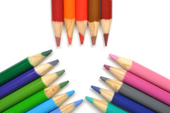Macro colorful pen Stock Image