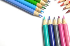 Macro colorful pen Stock Images