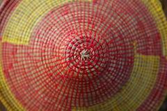Macro colorido da textura do chapéu da forma cónica africana Imagem de Stock Royalty Free