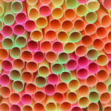 Macro of Colourful Drinking Straws. Drinking straw macro in a rainbow of colours Stock Image
