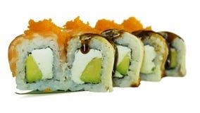 Macro colpo dei sushi Ristorante giapponese, sushi, tradizione orientale Immagini Stock