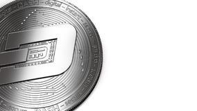 Macro colpo della moneta del un poco e dello spazio della copia illustrazione di stock