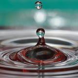 Macro colpo delle gocce di acqua fotografie stock