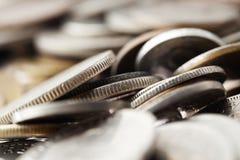 Fondo di macro delle monete Immagine Stock Libera da Diritti