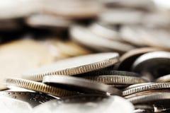 Fondo di macro delle monete Fotografie Stock