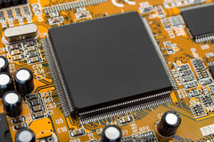 Macro of computer chip royalty free stock photos