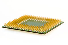 Macro of computer processor isolated Royalty Free Stock Image