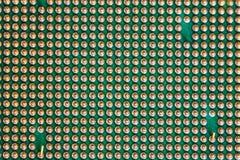 Macro of cpu processor Royalty Free Stock Photo