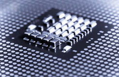 Macro of cpu processor Royalty Free Stock Photos