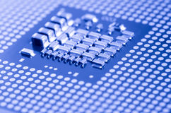 Macro of cpu processor Stock Photos