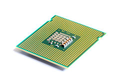 Macro of cpu processor Stock Photo