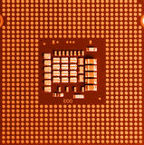 Macro of cpu processor Royalty Free Stock Image