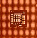 Macro of cpu processor Royalty Free Stock Image