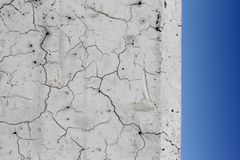 Macro Cracks and Blue sky royalty free stock photography