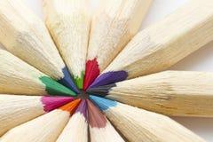 Macro of crayon in circle Stock Photos