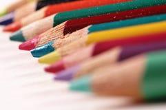 Macro crayons Stock Image
