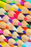 Macro crayons - colorful pencils Stock Photo