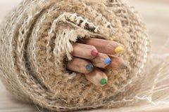 Macro crayons de couleur Photos stock